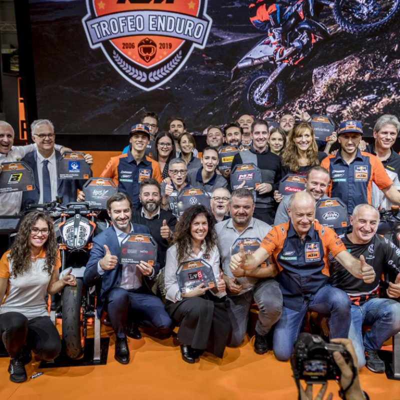 TROFEO ENDURO KTM 2019: A EICMA LA FESTA DELLE PREMIAZIONI