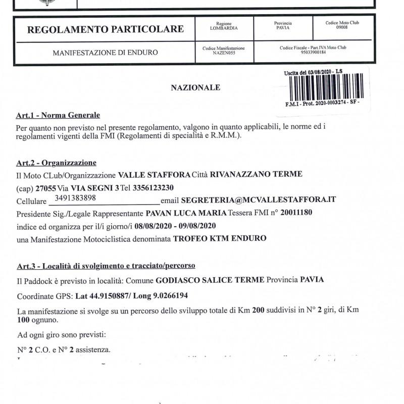 TROFEO ENDURO KTM 2020 1' Prova Salice Terme (PV)